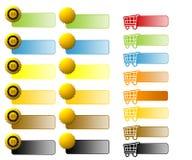 сортированная сеть коммерции e кнопок Стоковая Фотография