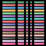 сортированная сеть форм цветов кнопок Стоковое Изображение