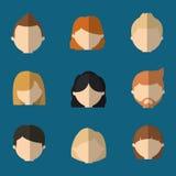 сортированное безликое изображение значка голов людей иллюстрация штока