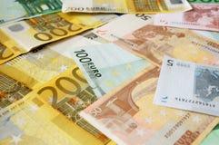 сортированное евро счетов Стоковое Изображение RF