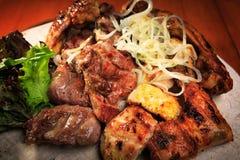 Сортированное зажаренное мясо Стоковое Изображение RF