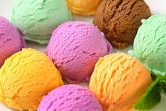 Сортированное мороженое стоковые изображения