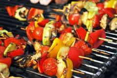 Сортированное мясо от цыпленка и свинины и различных овощей Стоковые Фотографии RF