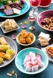 Сортированные восточные десерты Стоковое Изображение