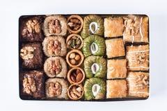 Сортированные десерты бахлавы Стоковые Фото