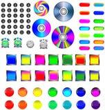 Сортированные иконы и кнопки Стоковые Изображения RF