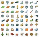сортированные иконы свободной руки иллюстрация штока
