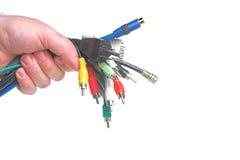 сортированные кабели стоковое фото rf
