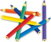 сортированные карандаши цвета Стоковое фото RF