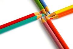 сортированные карандаши Стоковые Фото