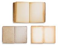 сортированные книги изолировали старую Стоковая Фотография