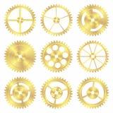 сортированные латунные шестерни Стоковое Изображение RF