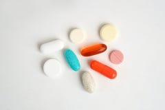 Сортированные медицинские пилюлька, таблетка и капсула Стоковое Фото