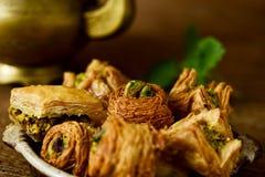 Сортированные печенья бахлавы Стоковая Фотография
