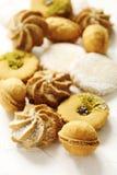 Сортированные печенья: linzer, shortbread, чокнутое печенье и печенья апельсина Стоковые Фото