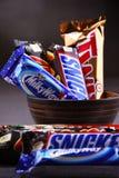 Сортированные продукты кондитерскаи компании Марса Стоковое Фото