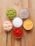 сортированные соусы Стоковое Фото