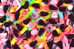 Сортированные сочные красочные камедеобразные конфеты Предпосылка конфеты стоковое фото