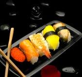 сортированные суши плиты Стоковые Фото