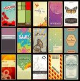 сортированные типы визитных карточек различные ретро иллюстрация штока