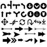 Сортированные формы стрелки Стоковые Изображения