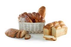 Сортированные хлебы изолированные на белизне Стоковое Фото