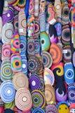 сортированные цветастые еврейские kipas Стоковая Фотография