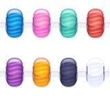 Сортированные шарики шарма стеклянные stripy Стоковая Фотография RF