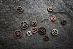 Сортированные шестерни металла Стоковое Изображение