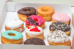сортированные donuts коробки Стоковые Изображения RF