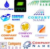 сортированный комплект логоса примеров Стоковое фото RF