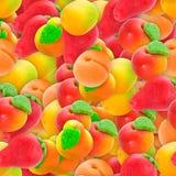 сортированный марципан конфеты стоковое изображение