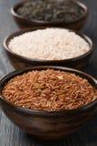 Сортированный рис в шаре, конце-вверх Стоковая Фотография