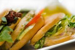 сортированный сандвич panini Стоковые Изображения RF