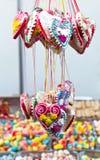 Сортированный хлеб имбиря конфеты смешал цветастый Bonbon в рынке Стоковые Фото