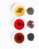 сортированный 3 чаям Стоковые Фото