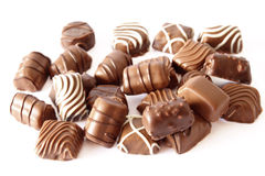 сортированный шоколад конфеты Стоковое фото RF