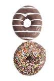 2 сортированных Donuts изолированного на белизне Стоковые Фотографии RF