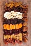 сортировано высушено - плодоовощ стоковое фото