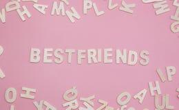 Сортировать письма Bestfriends на пинке Стоковое Изображение RF