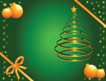 сосенка золота зеленая Стоковая Фотография RF