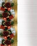 сосенка конусов рождества смычка граници Стоковые Изображения RF