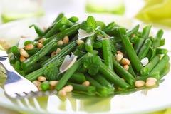 сосенка фасолей зеленая nuts Стоковое фото RF