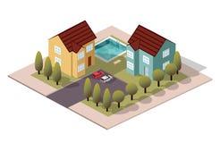 Соседи дома вектора равновеликие стоковые фото