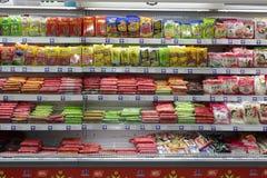 Сосиска ветчины в супермаркете Чунцина Стоковые Изображения RF