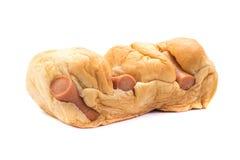 Сосиска в испеченном хлебе Стоковое фото RF