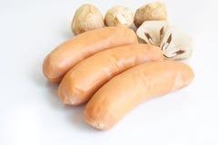 Сосиска и гриб Стоковое Изображение