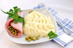 Сосиска и картофельные пюре Стоковые Изображения RF