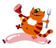 сосиска кота Стоковые Фотографии RF