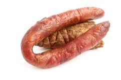 сосиска мяса курила Стоковые Фотографии RF